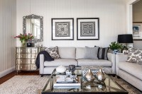 Light Gray Sofas - Transitional - living room - Highgate House