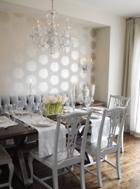 White Chippendale Chairs - Contemporary - dining room ...