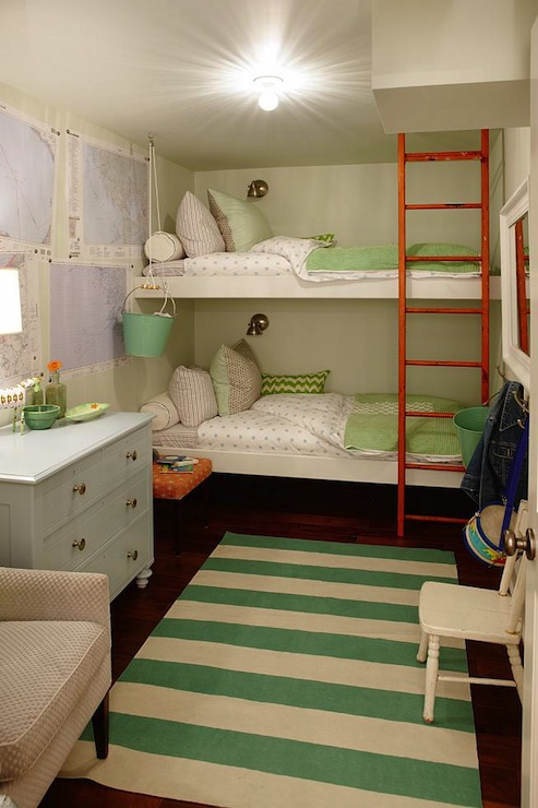 Floating Bunk Beds Contemporary Girl39s Room Sarah