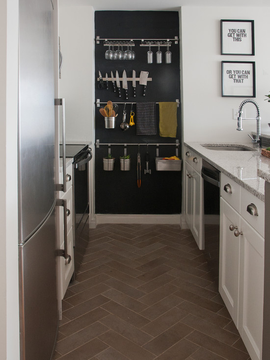 White Dove Cabinets Kitchen Chalkboard Wall - Contemporary - Kitchen