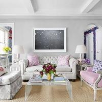Pink Tufted Sofa - French - living room - Brandon Barre ...