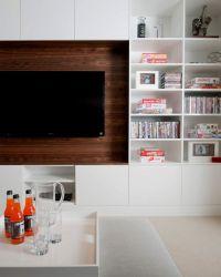Built In Media Cabinet - Contemporary - living room ...