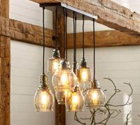 Paxton Glass 8-Light Pendant | Pottery Barn