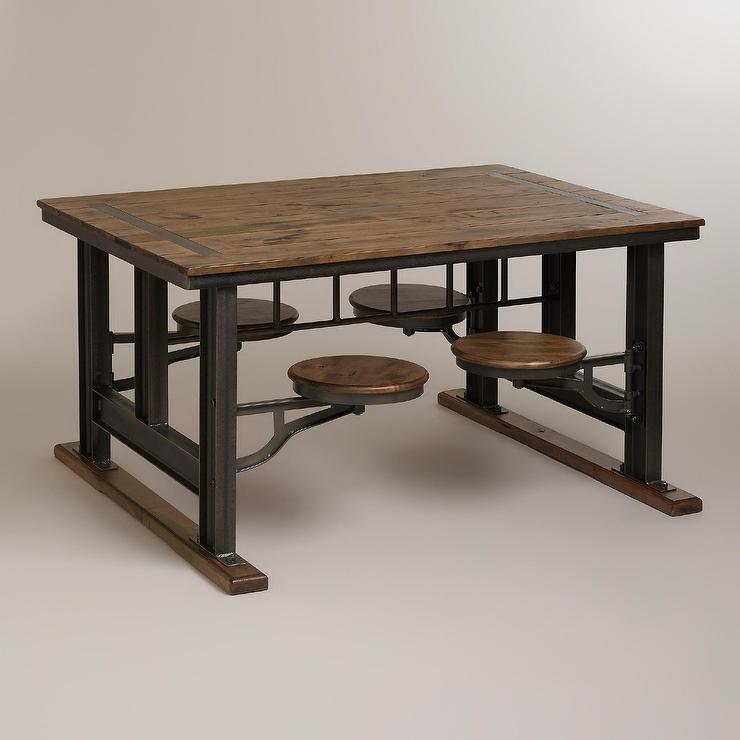 Dining Table: Industrial Style Dining Table