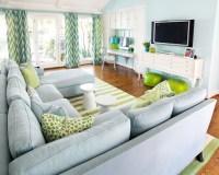 Chevron Drapes - Contemporary - living room - Tracy ...