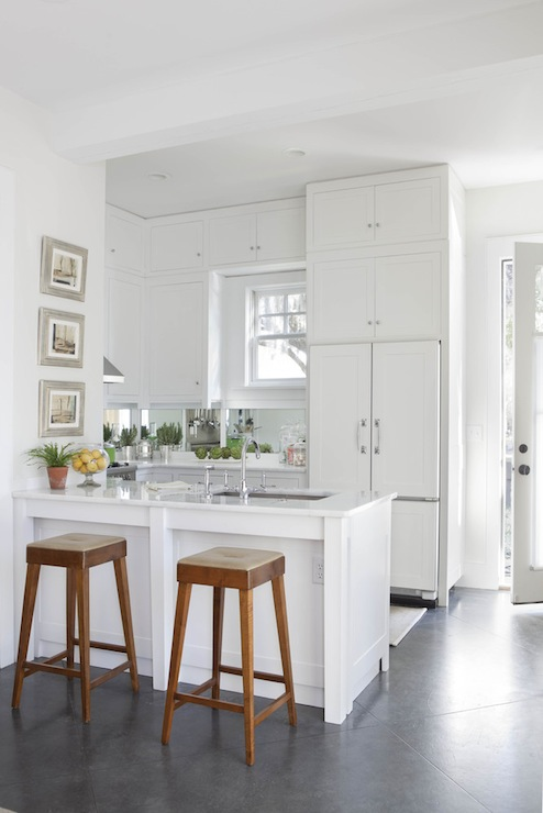 Over The Sink Lighting Concealed Refrigerator - Transitional - Kitchen - Denman