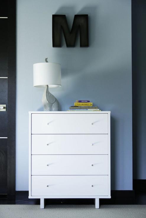 Black And White Wallpaper Living Room Elephant Lamp Contemporary Boy S Room Amy Sklar Design