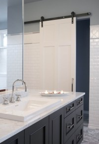 Bathroom with Barn Door - Contemporary - bathroom ...