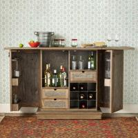 Chesterton Reclaimed Distressed Oak Bar and Console