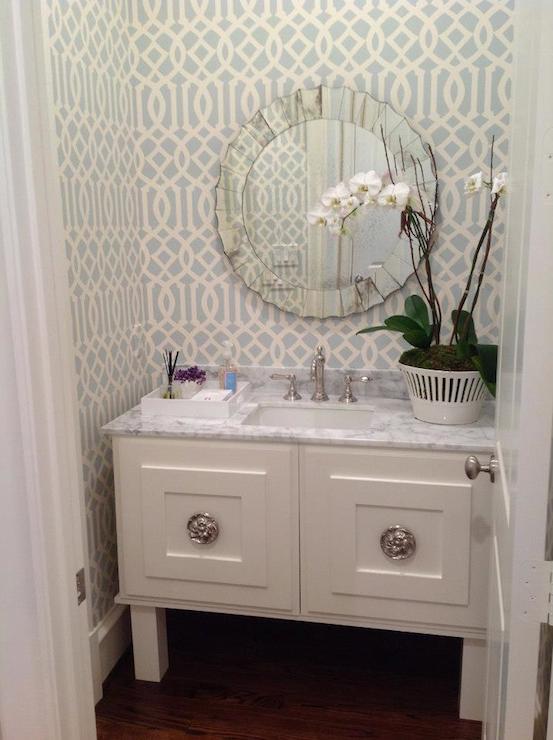 Classic Girl Wallpaper Wallpaper For Powder Rooms Contemporary Bathroom
