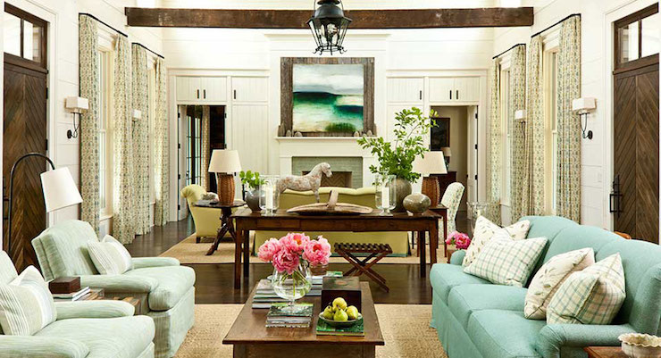 Interior design inspiration photos by Southern Living - southern living living rooms