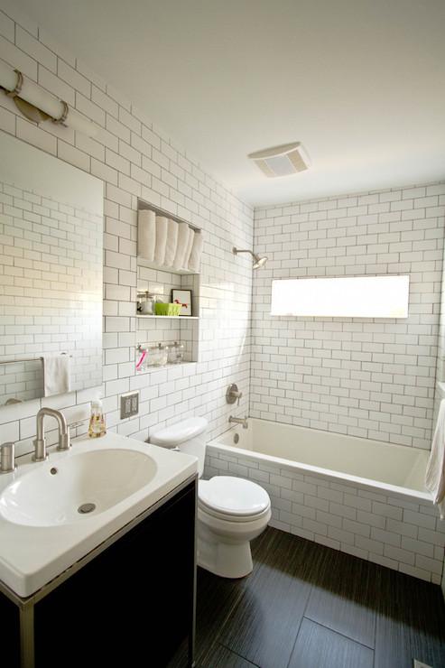 The Girl Next Door Wallpaper Wood Tiles Contemporary Bathroom Fitzgerald Construction
