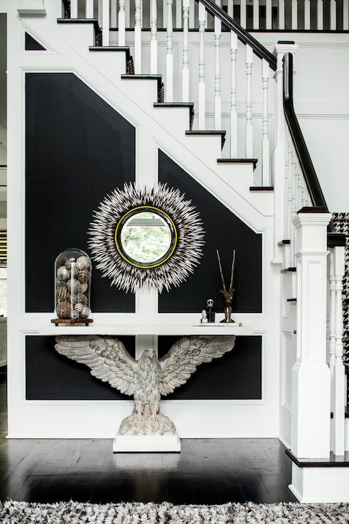 Thom Filicia Black And White Foyer - Contemporary - Entrance/foyer