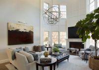 2 Story Living Room - Transitional - living room - Liz ...