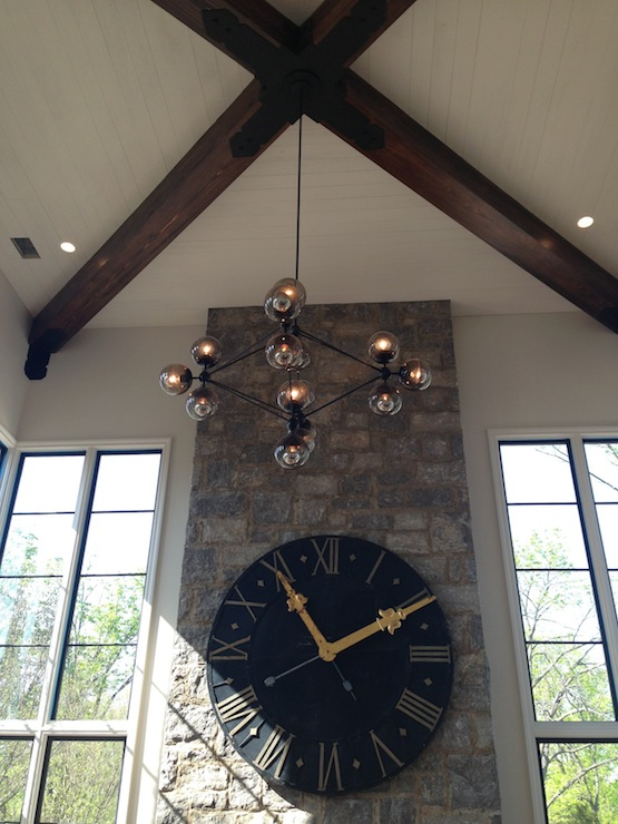 Living Room Ceiling Lights French Wall Clock - Transitional - Living Room - Tracery