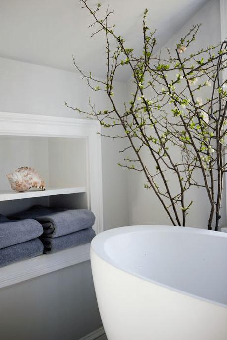 Black Marble Wallpaper Towel Niche Design Ideas