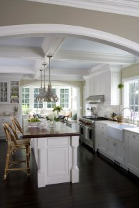 Painted Coffer Ceiling - Cottage - kitchen - Smith River ...