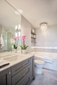 Grey Vanity - Contemporary - bathroom - Madison Taylor Design
