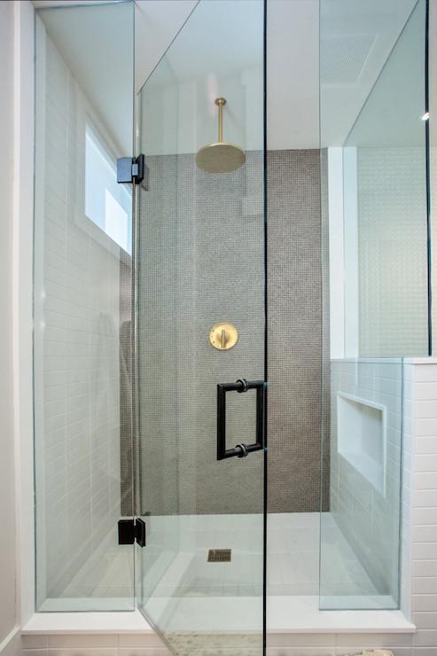 Girl Wallpaper Gold Shower Head Contemporary Bathroom Madison