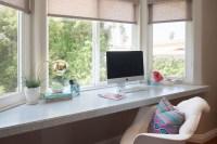 Desk Below Window Design Ideas