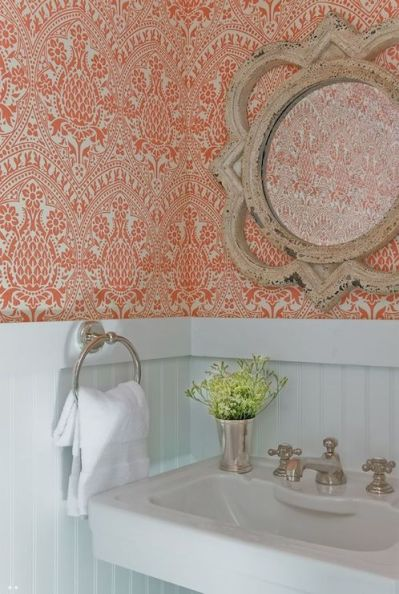 Powder Room Beadboard - Transitional - bathroom - JD Interiors