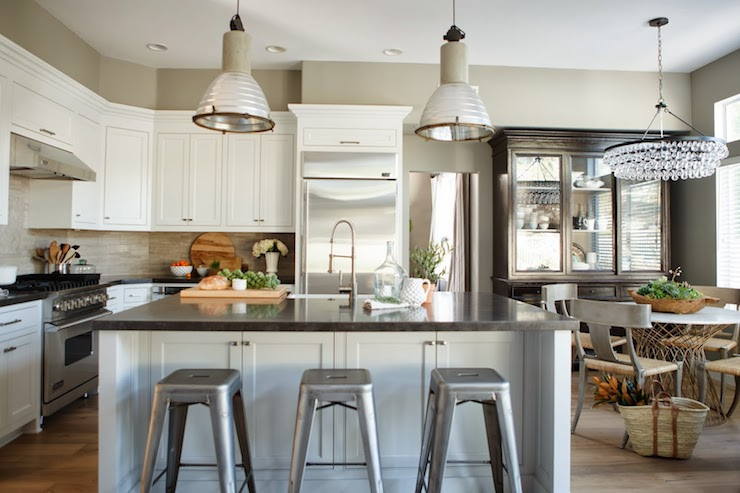 Kitchen Island Back Panel Ideas Interior Design Inspiration Photos By Greige Design.