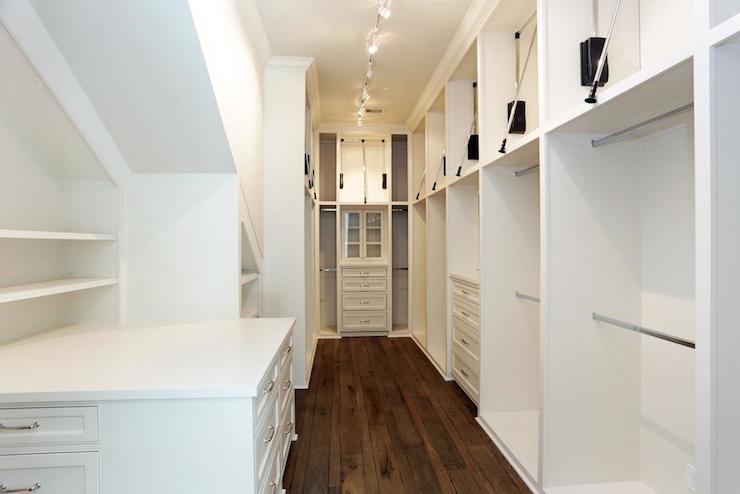 Long walk in closet contemporary closet har