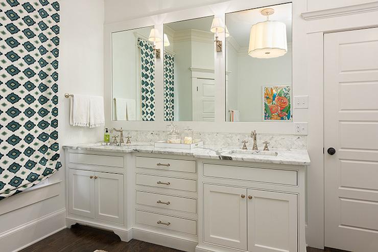 Double Vanity Ideas - Transitional - bathroom - Colordrunk Design - bathroom vanity mirror ideas
