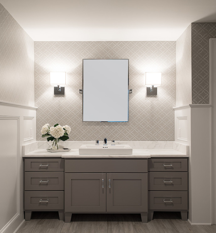 White and grey bathroom transitional bathroom cory