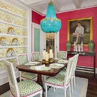 Yellow Curtains - Eclectic - dining room - Liz Caan Interiors