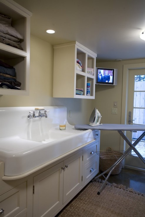 Girl Home Screen Wallpaper Laundry Room Sink Transitional Laundry Room Bockman