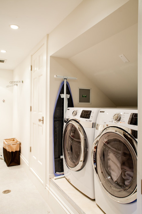 Stacked Cabinets Front Load Washer And Dryer Design Ideas