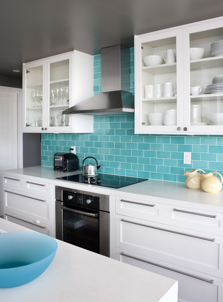 Kitchen Island Espresso Turquoise Subway Tile Backsplash Design Ideas