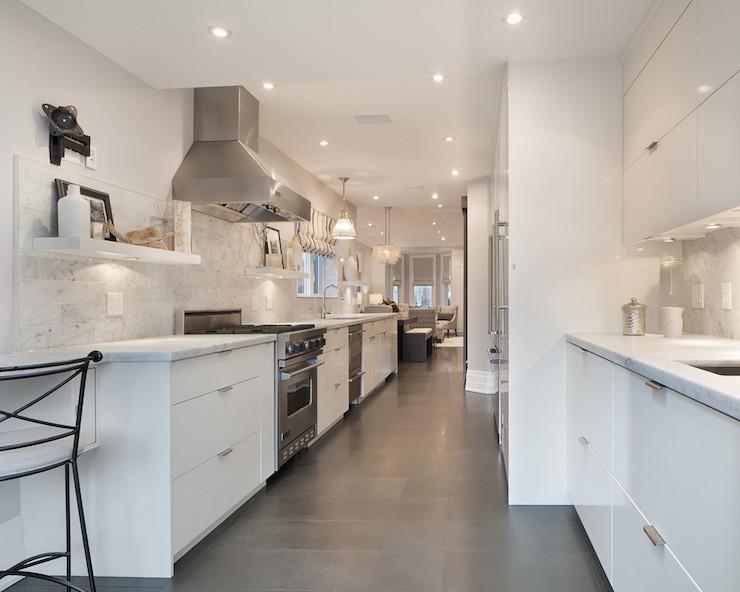 White Galley Kitchen Ideas - Sarkem.Net