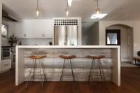 Waterfall Kitchen Island - Transitional - kitchen - Eric ...