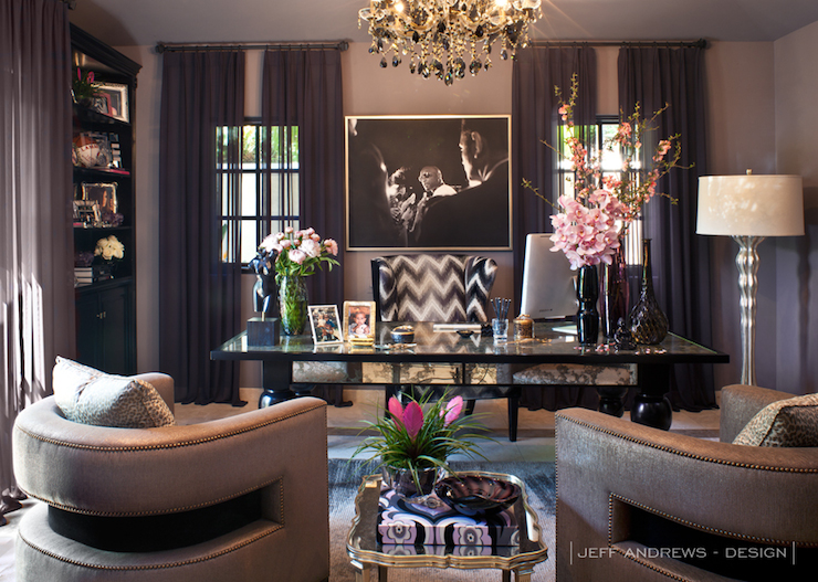 Khloe Kardashian Office - Contemporary - den/library/office - Jeff