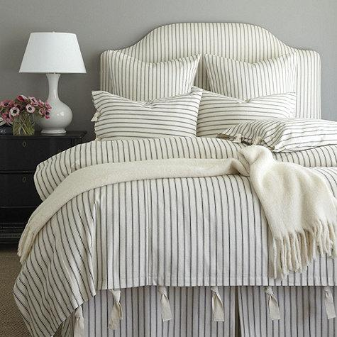 Black And White Striped Wallpaper Ticking Navy And White Stripe Bedskirt