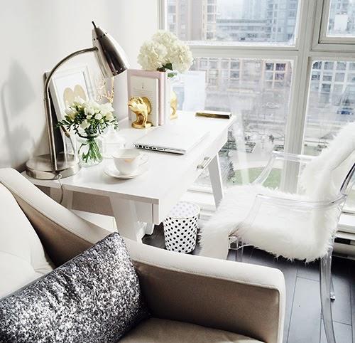 Living Room Desk - Contemporary - living room - Closet Full of Nothing - desk in living room