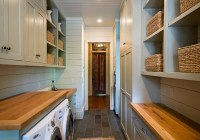 Galley Laundry Room - Country - laundry room - The Berry Group