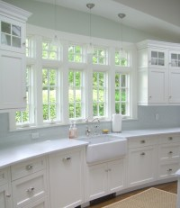 Kitchens Curved Wall Entrance Design Ideas