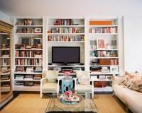Built In Bookshelves - Eclectic - living room - Lonny Magazine
