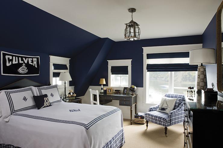 Black Beadboard Wallpaper Navy Boys Room Cottage Boy S Room Chesapeake Home