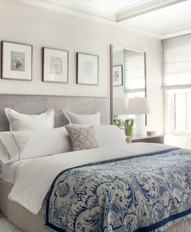 Cuadros Para Cabeceros De Cama De Matrimonio Gray And Blue Bedrooms - Transitional - Bedroom - Victoria