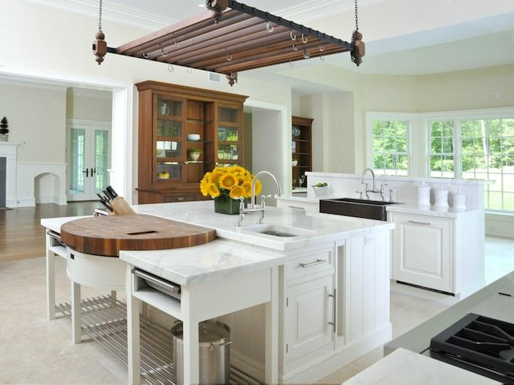 Island Pot Rack Transitional Kitchen Sotheby39s Realty