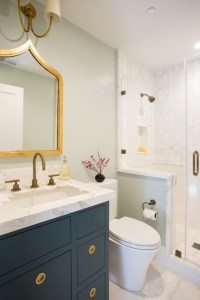 Navy Vanity - Transitional - bathroom - Fiorella Design