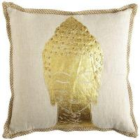 Capri Gold Buddha Pillow