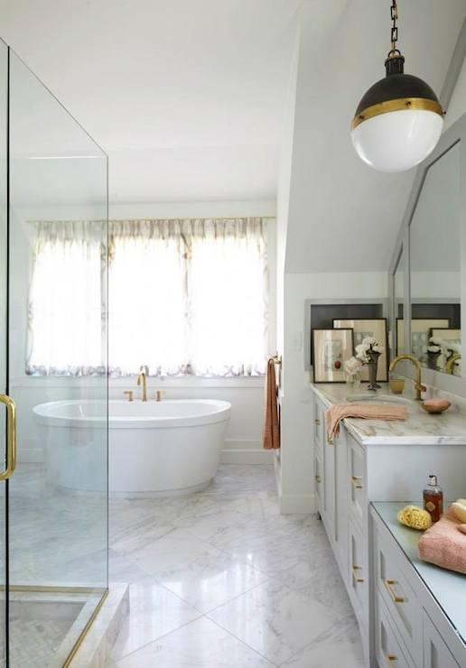 Pin Up Girl Wallpaper Bathroom Brass Bathroom Fixtures Transitional Bathroom