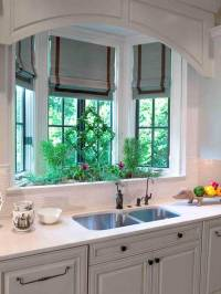 Bay Window Kitchen Sink - Transitional - kitchen
