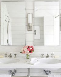 All White Bathrooms - Cottage - bathroom - House Beautiful