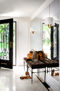 Floor to Ceiling Foyer Mirror - Transitional - entrance ...